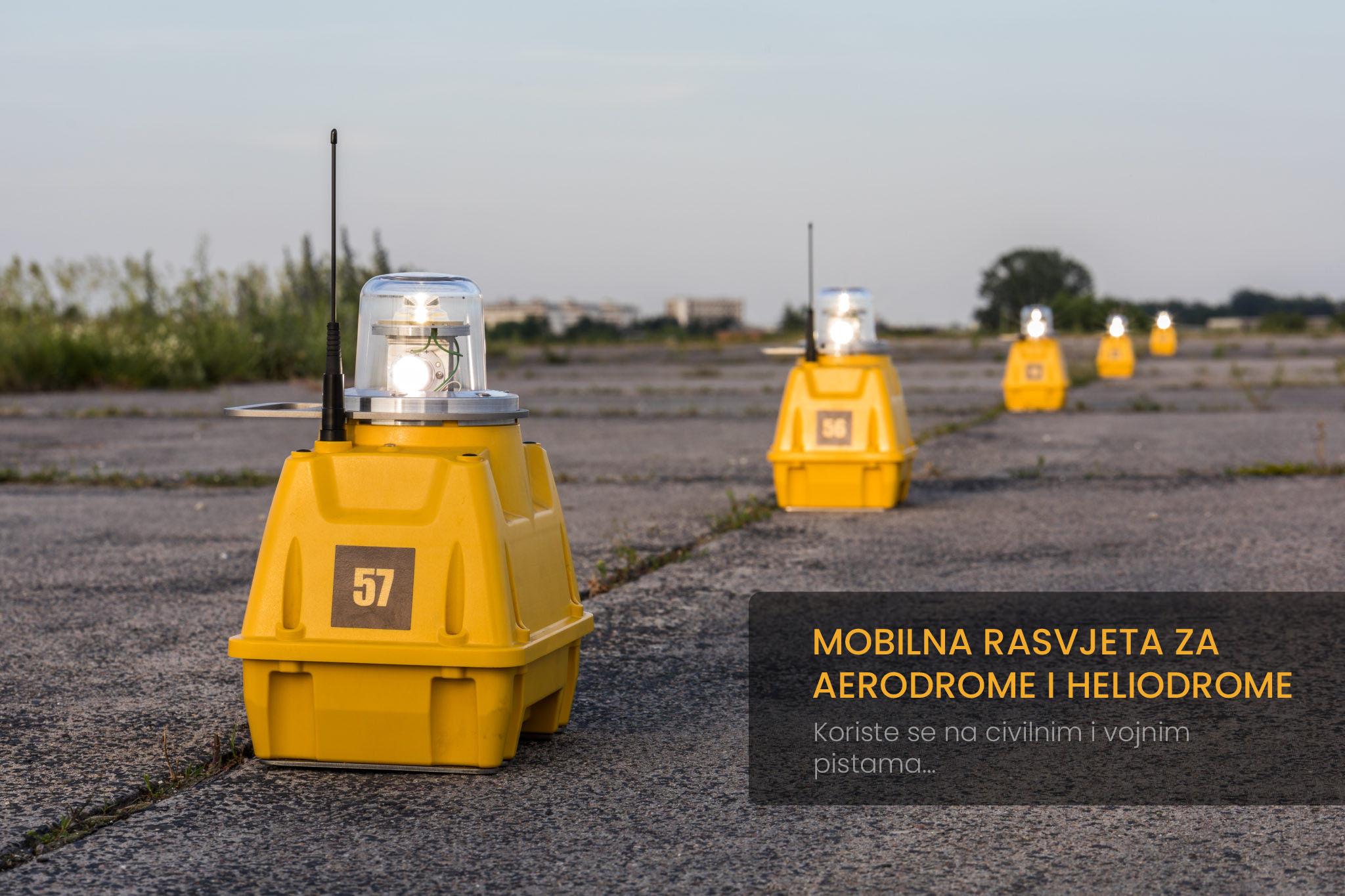 Mobilna osvjetljenja za aerodrome  i heliodrome